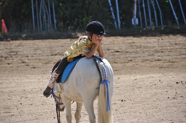 odpočinek při jízdě na koni