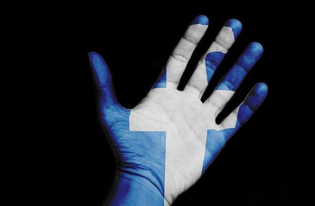 pomalovaná ruka