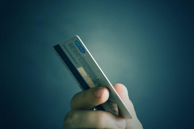 zadní strana kreditky