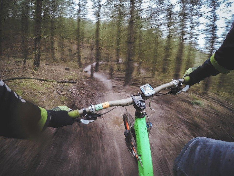 výhled cyklisty